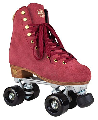 Rookie Rollerskate Classic Suede Skate, Damen 38 Weinrot