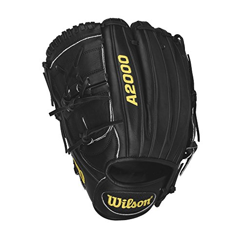 Wilson A2000 CK22 Clayton Kershaw Pitcher Baseball Glove, Black, Left Hand Throw, 11.75-Inch