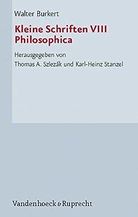 Kleine Schriften: Philosophica: 8