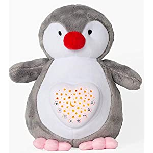 Baby Sleep Soothers, Olele Baby Toys White Noise Sound Machine, Toddler Sleep Aid Night Light Soother, Portable Baby Nursery Soother, Plush Nightlight Projector Shower Gifts for Newborns (Penguin)