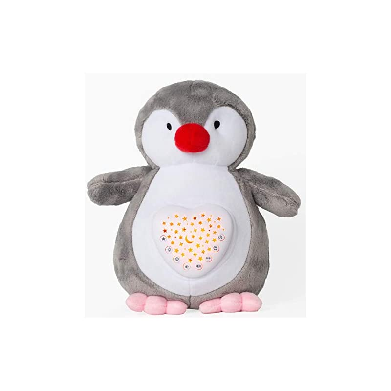 crib bedding and baby bedding baby sleep soothers, olele baby toys white noise sound machine, toddler sleep aid night light soother, portable baby nursery soother, plush nightlight projector shower gifts for newborns (penguin)