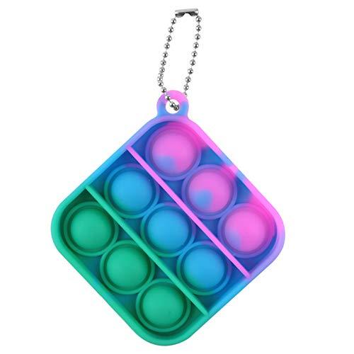 Push Pop Bubble Sensory Fidget Toy - 6,4x6,4cm - Fidget Spielzeug Set, Dekompression Spielzeug, Stress Relief Fidget Toys für Kinder und Erwachsene (H)