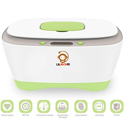 Image of Lilmonki- Wet Wipe Warmer and Dispenser - for Baby and Adult Wipes - BPA-Free - Includes Bonus Changing Pad