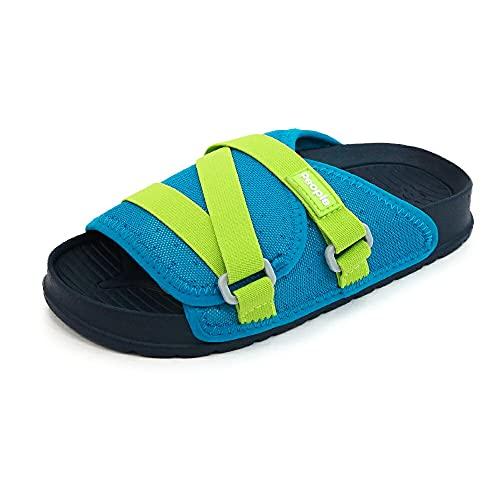 [People Footwear ピープルフットウェア] キッズ スライドサンダル シャワーサンダル 【LENNON CHILLER KIDS】 Blue(ブルー) C12(18.5cm)