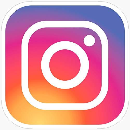 Deangelo New Instagram Logo-Aufkleber, 3 Stück