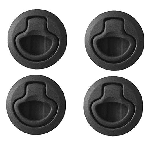 Hainice RAS Cubierta reemplazable Pestillo plástico Redondo de Bloqueo del yate Accesorios Negro 4PCS