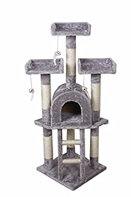 NEW Cat Tree Scratching Post Scratch Activity Centre Bed Toys Scratcher