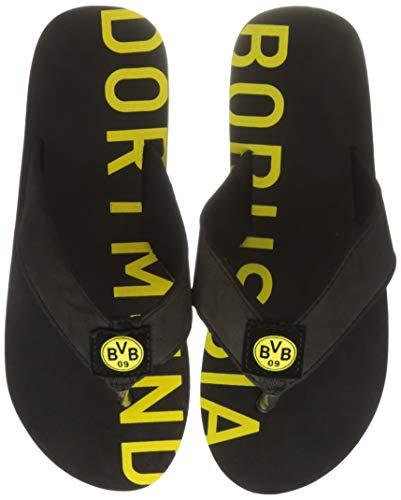 Borussia Dortmund, BVB-Badeschlappen, schwarz, 46/47