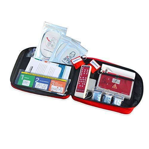AED-Übungseinheit für das HLW-Training mit Menüführung in Portuguese und Englisch