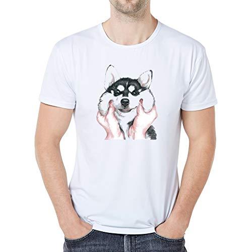Manga Corta Camiseta Hombres Nuevo Verano Dibujos Animados B