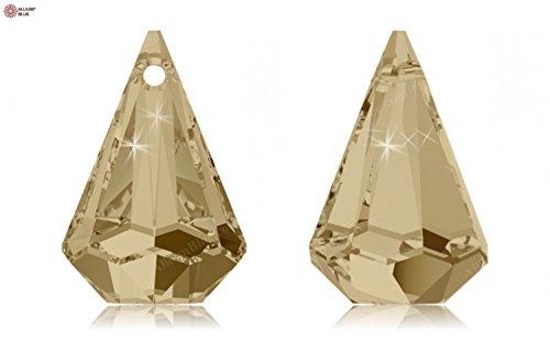 Cristaux de Swarovski 5067998 Pendentifs Cristal 6022 MM 14,0 Crystal GOL.Shadow, 72 Pièces