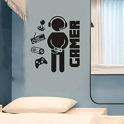 Gamer Decals for Boys Room, Creative Game Wall Sticker for Kids Room Boys Bedroom Playroom Wall Decor (Gamer Decal D)
