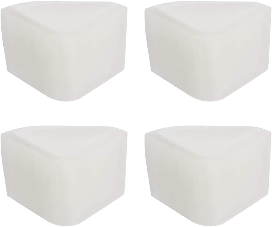 uxcell Corner Guards Edge Protector Furniture Table Corner Protectors Adhesive Soft Silicone Translucent 34x34x29mm, 4 Pcs