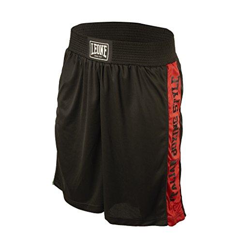 Leone 1947 AB739 Pantalones cortos de Boxeo, Unisex – Adulto, Negro, L