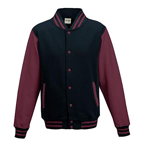 Just Hoods - Unisex College Jacke 'Varsity Jacket' BITTE DIE JH043 BESTELLEN! Gr. - M - Oxford Navy/Burgundy
