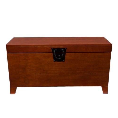 SEI Furniture Pyramid Storage Trunk, Coffee Table, Mission Oak (Kitchen)