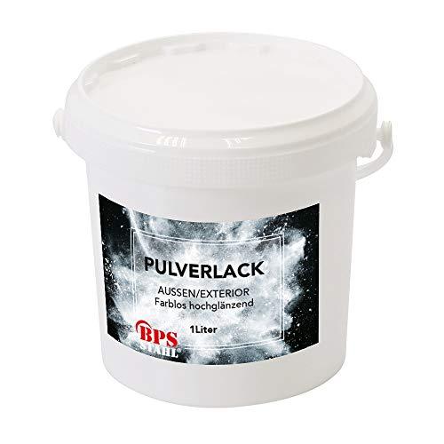 Pulverlack/Pulverbeschichtung 1 Liter Eimer (Klar hochglänzend)