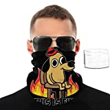 This is Fine Dog Meme Existence is Pain Dust Wind Sun Protection Seamless 3D Neck Gaiter Headwrap Balaclava