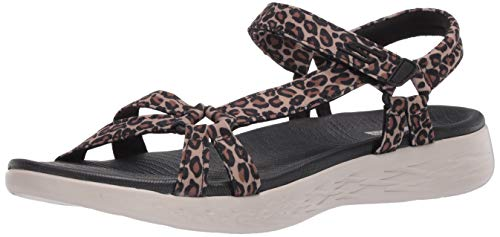 Skechers Women's ON-The-GO 600 Sport Sandal, Leopard, 10 Medium US