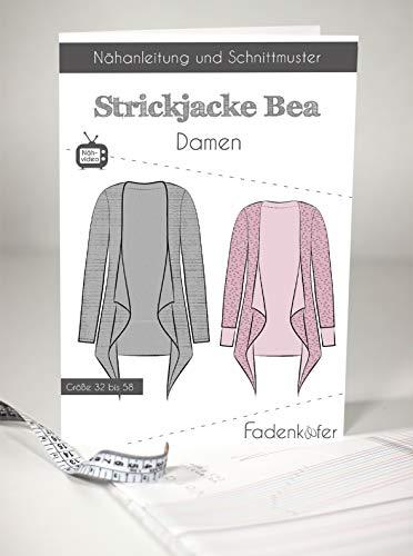 Schnittmuster und Nähanleitung - Damen Strickjacke - Bea