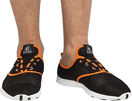 Cressi Aqua Shoes Moderne Wassersportschuhe, Schwarz/Orange, 43