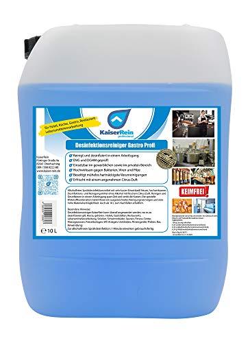 Profi Desinfektionsreiniger Gastro Küche 10 L Kanister Reinigung und Desinfektion speziell Flächen im Lebensmittelbereich Flächendesinfektion begrenzt viruzid