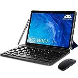 Tablet 10 Pulgadas 5G Android 10 Tableta Ultra-Portátiles 4GB RAM + 64/128GB ROM, Con1.6GHz Core Procesador Núcleos Dual WiFi, Bluetooth con Teclado y Ratón, Certificado Google GMS/OTG/Tpye-C (Azul)