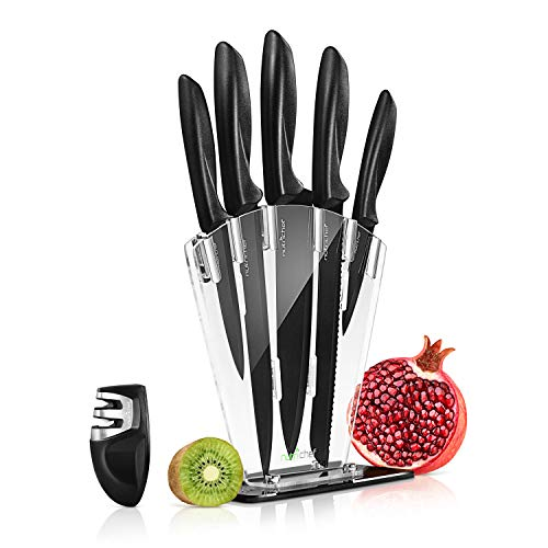 7 Piece Kitchen Knife Set - Stainless Steel...