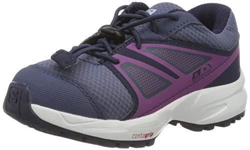 Salomon Kinder SENSE CSWP K Trail Running Schuhe, Farbe: lila (Crown Blue/Evening Blue/Sparkling Grape), Größe: EU 28