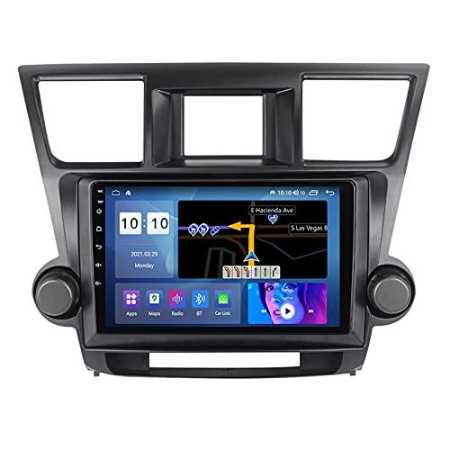ADMLZQQ Navegación para Audio/Video de automóvil para Toyota Highlander 2007-2013 Car Stereo Android 10 FM/WiFi/Control del Volante/Bluetooth/cámara de visión Trasera,M300s