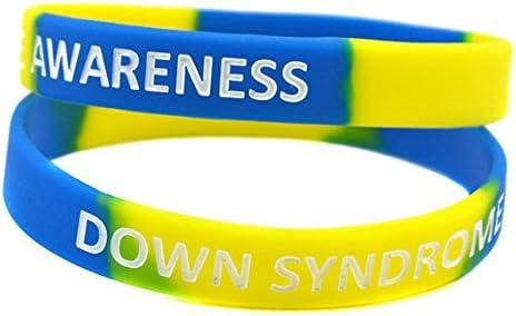 SayitBands 2 Down Syndrome Awareness Wristband Bracelets