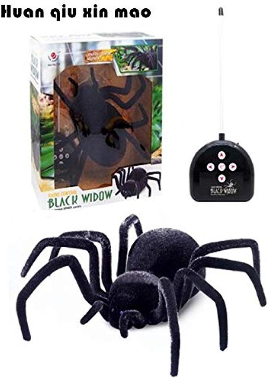 Generic Realistic Rc Simulation Animal Plush Creepy Spider Remote Control Kids Toys Fake Crawl Prank Trick