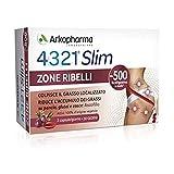 Arkopharma 4321 Slim Zone Ribelli Integratore Alimentare, 60 Capsule