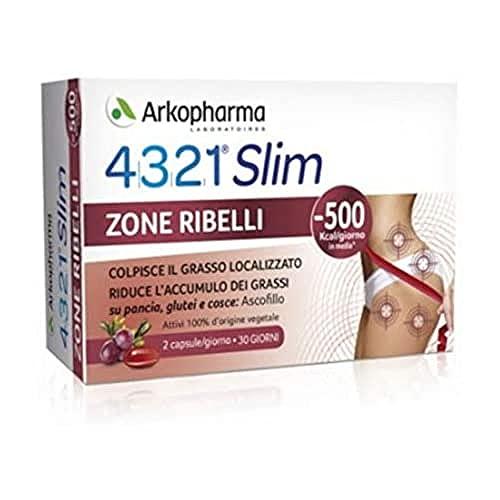 Arkopharma Integratore Alimentare Slim Cellulite Cuscinetti Adiposi Drenante, 60 Capsule