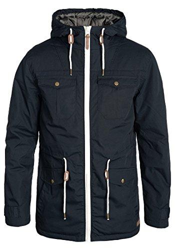 !Solid Tilas Herren Übergangsjacke Parka Mantel Lange Jacke Mit Kapuze, Größe:M, Farbe:Insignia Blue (1991)