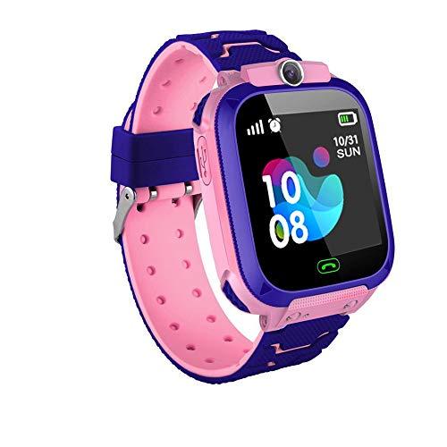 FANMU Teléfono de Reloj Inteligente de Seguridad para Niños Reloj de Alarma Antipérdida Sos con Función de Llamada Y Cámara Reloj de Llamada para Estudiantes