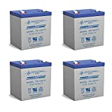 12V 5AH SLA Replaces Power Wizard PW100S, PW200S, PW500S - 4 Pack