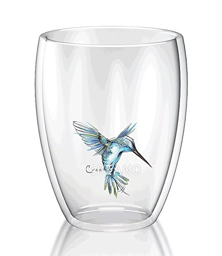 Creano ThermoGlas Hummi Kolibri blau,1 Stück