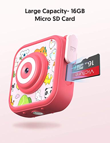 """Victure Kids Camera Waterproof 1080p Full HD Video Camcorders Sports Action Digital Camera with 16GB SD Card for Girls… 5 <p>【8MP Photo & 1080p HD Video & 16GB card】 Victure Kids Camera KC200 features Full HD 1080p@/30fps videos and 8MP bright photos, shooting the most memorable moments of children. Large-capacity storage card is good for children to take a lot of photos and videos. KC200 is the best action camera as a Christmas/ birthday/ holiday gift for children 4-12 years. 【Durable & Waterproof Case】With the professional IP68 level waterproof case, Victure waterproof video kids camera can be used underwater 30m (100ft) to explore adventures, best for beach, diving, swimming, drifting, snorkeling, surfing and more. 【Colorful Filters & Unique Frames】 With built-in 7 colorful video filters and 6 unique designed photo frames, Victure kids camera can fully develop children's creativity. 2"""" LCD color screen presents and view all images directly, making recording a lifestyle. 【Useful Accessories & Multiple combinations】Included Class 10 Micro SD 16GB Card and versatile mounting kits allow the kids sports camera arrive and play, can be attached to skateboards, bike or helmets. Durable neck strap ensure safe using and full-protection. 【Excellent After-Sales Service】Victure Kids Camera supports 30-days money back and 12 months warranty and free customer service for life. A qualified after-sale service team, 7 days/ 24 hours serving for you.</p>"""