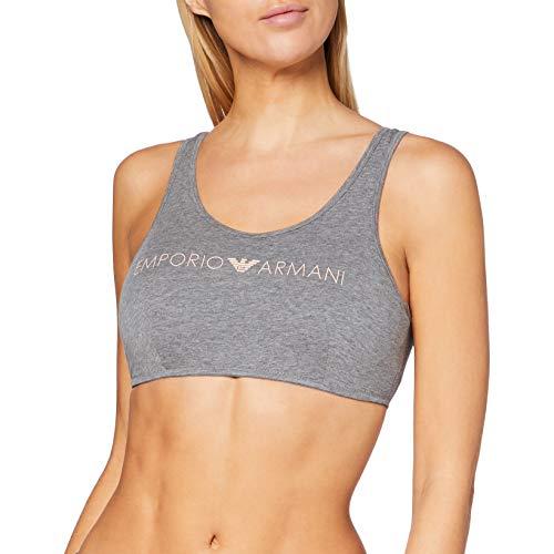 Emporio Armani Underwear Damen Brassiere-Bralette Geformter BH, Grigio Melange Scuro - Dark Grey Melange, M