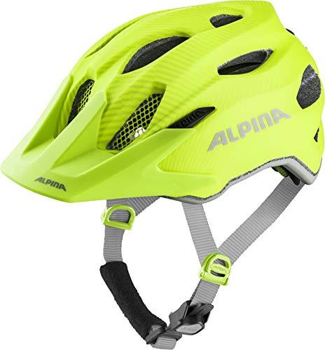Alpina Unisex Jugend Carapax JR. Flash Fahrradhelm, be Visible, 51-56 cm