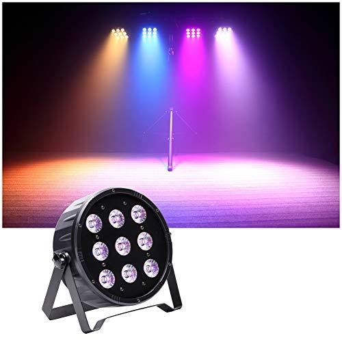 Luci Discoteca LED,UKing Par 9 LED 4 in 1 RGBW Luci del Palcoscenico 120 W, Luci Palco Fari da Palco Per Bar, Club, Discoteche, Concerti,