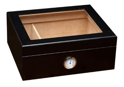 Prestige Import Group - The Chalet Glass Top Cigar Humidor - Capacity: 20-50 -...