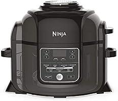 Ninja Foodi Electric Multi-Cooker [OP300UK] Pressure Cooker and Air Fryer, Grey and Black