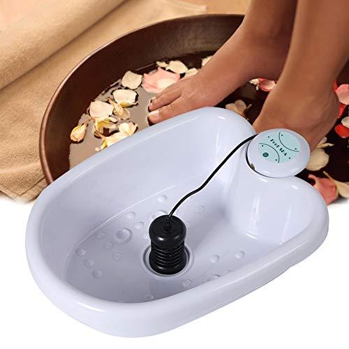 Massaggiatore per Pediluvio Con calore, Idromassaggiatore Plantare Mantiene e Scalda Acqua, Massaggio Vibrante, Benefici di Circolazione