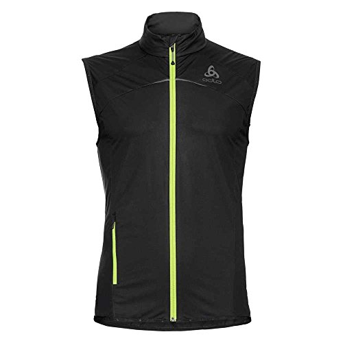 Odlo ZEROWEIGHT sans Manches Homme, Black/Safety Yellow, XL