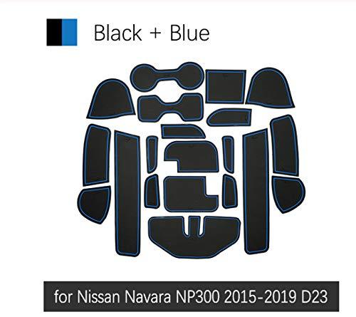 linfei Anti-Rutsch-Gummi Gate Slot Cup Mat Für Für Nissan Navara Np300 D23 2015-2019 Zubehör Autoaufkleber Np 300