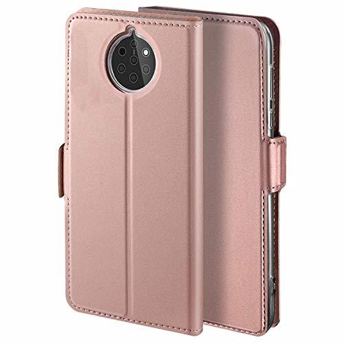 HoneyHülle für Handyhülle Nokia 9 PureView Hülle Premium Leder Flip Schutzhülle für Nokia 9 PureView Tasche, Rose Gold