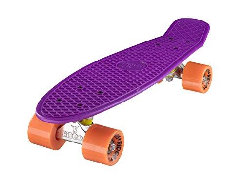 Ridge Skateboard 55 cm Mini Cruiser Stile retrò in Completo di Ruote e già Montato