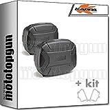 kappa maletas laterales kvc35npack2 kvector 35 lt + portamaletas laterales monokey compatible con benelli trk 502 trk502 2018 18